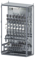 Media cabinet for temperature management in pressure die-casting processes