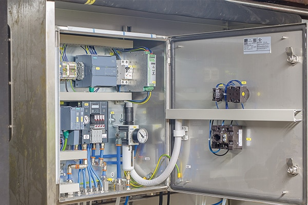 Valve island with siemens simatic et200 sp