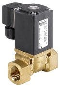 Diaphragm valve 2/2 way servo-assisted